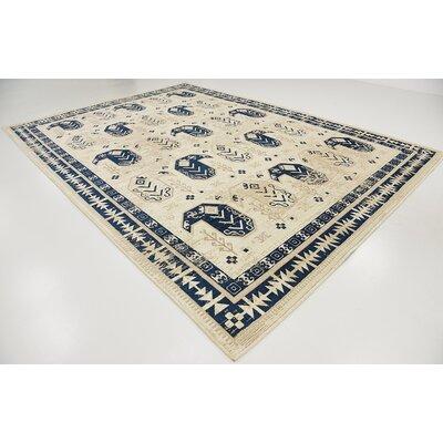 Bhakta Ivory Area Rug Rug Size: 910 x 13