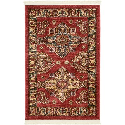 Lerma Red Area Rug Rug Size: 22 x 3