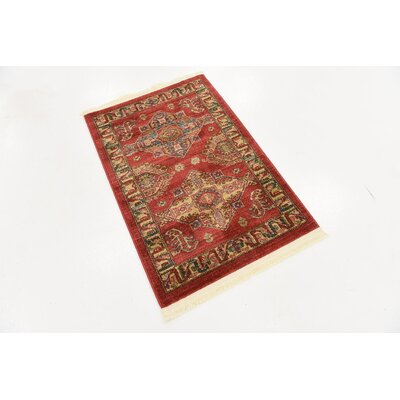Valley Red Area Rug Rug Size: Rectangle 22 x 3