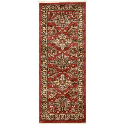 Lerma Red Area Rug Rug Size: Runner 27 x 67