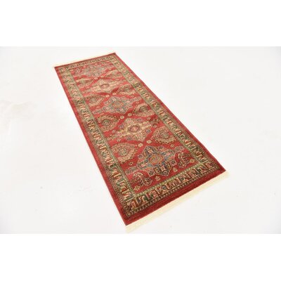 Valley Red Area Rug Rug Size: Runner 27 x 67