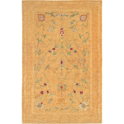 Chriswell Himalayan Sheep Gold Floral Indoor/Outdoor Area Rug Rug Size: 10 x 14