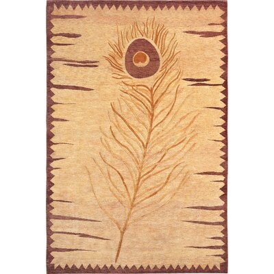 Wilton Tan Sheep Area Rug Rug Size: 6 x 9