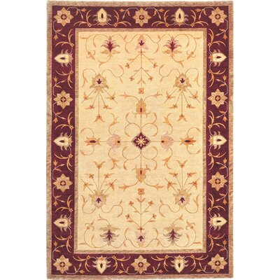 Ventnor Himalayan Sheep Gold Floral Area Rug Rug Size: 6 x 9