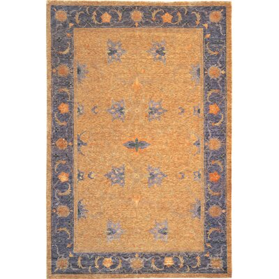 Ventnor Himalayan Sheep Gold/Black Floral Area Area Rug Rug Size: 8 x 10
