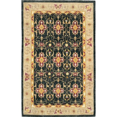 Tyson Himalayan Sheep Balck/Beige Floral Area Rug Rug Size: 10 x 14