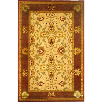 Valerie Himalayan Sheep Gold/Burgundy Area Rug Rug Size: 6 x 9