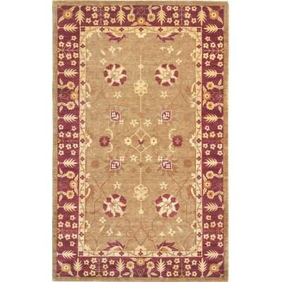 Imperial Himalayan Sheep Gold Floral Indoor/Outdoor Area Rug Rug Size: 6 x 9