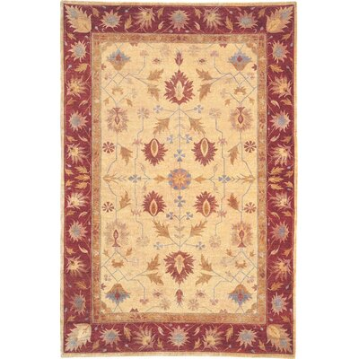 Ware Himalayan Sheep Gold/Burgundy Area Rug Rug Size: 8 x 10