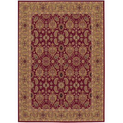 Chakra Red/Beige Area Rug Rug Size: Round 46