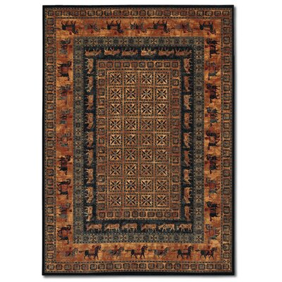 Faska Pazryk Burnished Rust Area Rug Rug Size: 66 x 910
