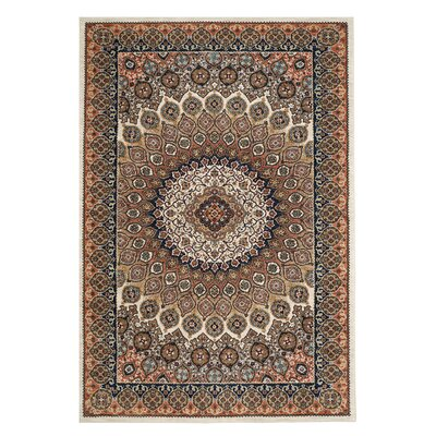 Elenora Brown/Ivory Area Rug Rug Size: Rectangle 9'6