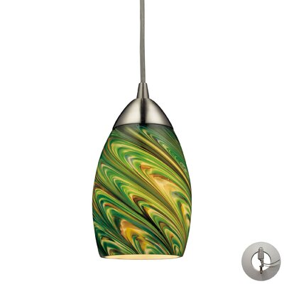 Angilia 1-Light Mini Pendant Shade Color: Evergreen