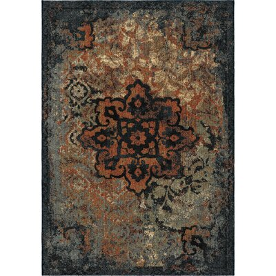 Alice Blue/Beige/Brown Area Rug Rug Size: 53 x 76