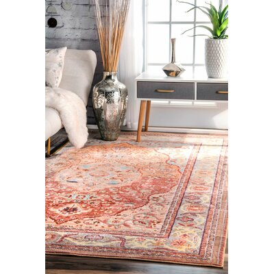 Brighton Orange Area Rug Rug Size: Rectangle 53 x 77