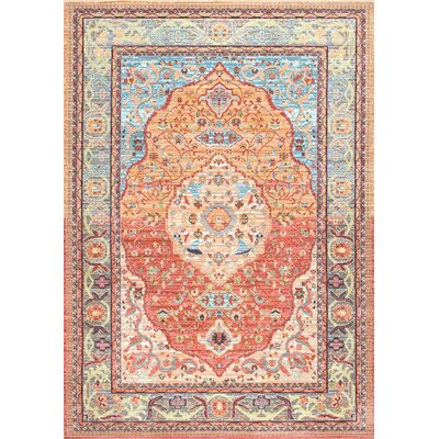Brighton Orange Area Rug Rug Size: 4 x 6