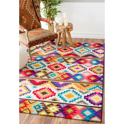 Laymoune Retro Indoor Area Rug Rug Size: 9 x 12