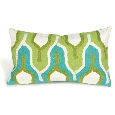 Aditya Crochet Tower Lumbar Pillow Color: Green