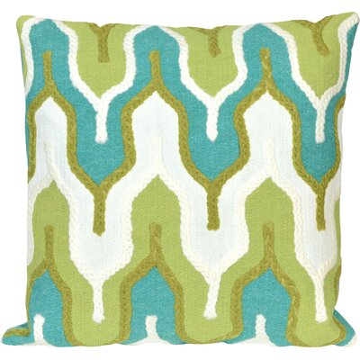 Azura Crochet Tower Pillow Color: Green