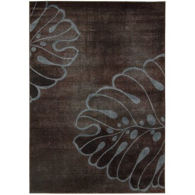 Pyrex Brown Area Rug Rug Size: 53 x 75