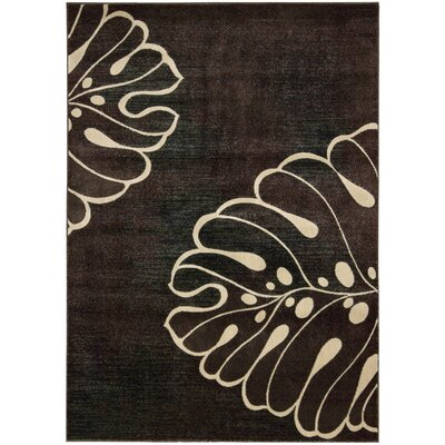 Pyrex Brown/Tan Area Rug Rug Size: 53 x 75