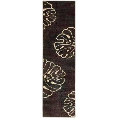 Pyrex Brown/Tan Area Rug Rug Size: Runner 2 x 59