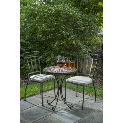 Pavel 3 Piece Bistro Set with Cushion