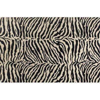 Sarana Hand-Tufted Black Area Rug Rug Size: 56 x 86
