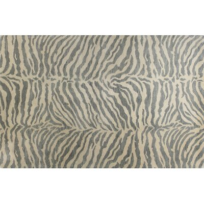 Sawgrass Hand-Tufted Light Blue Kids Area Rug Rug Size: 86 x 116