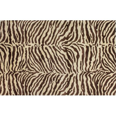 Bayport Hand-Tufted Chocolate Area Rug Rug Size: 56 x 86