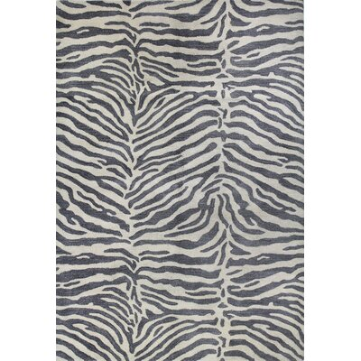 Ryleigh Hand-Tufted Grey Area Rug Rug Size: 39 x 59