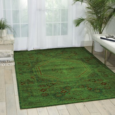 Pilou Teal Area Rug Rug Size: Rectangle 79 x 99