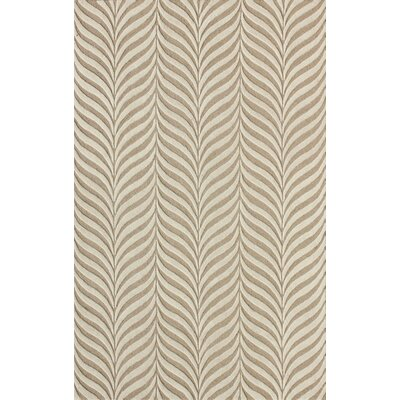 Netea Hand-Tufted Sand/Ivory Area Rug Rug Size: Rectangle 4 x 6