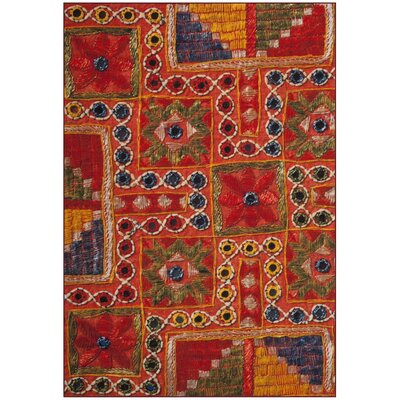 Azilal Orange Area Rug Rug Size: 4 x 6