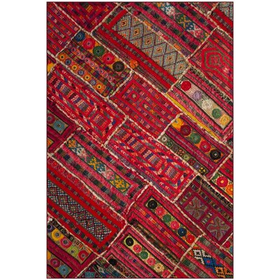 Azilal Red Indoor/Outdoor Area Rug Rug Size: 51 x 76