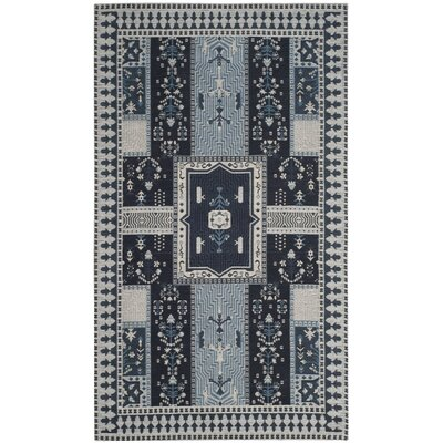 Essie Blue Area Rug Rug Size: Rectangle 3 x 5