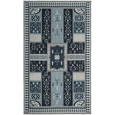 Essie Blue Area Rug Rug Size: Rectangle 4 x 6