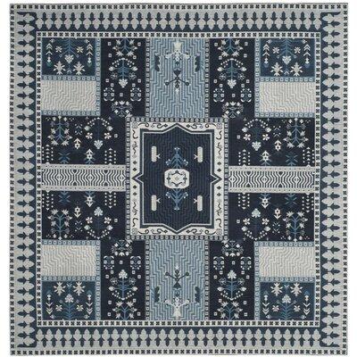 Nizar Blue Area Rug Rug Size: Square 6