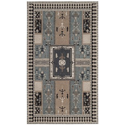 Essie Beige/Blue Area Rug Rug Size: Rectangle 3 x 5