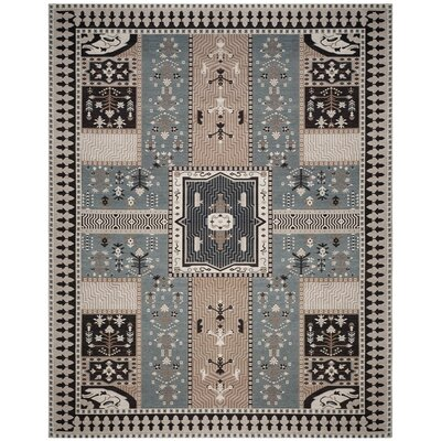 Essie Beige/Blue Area Rug Rug Size: Rectangle 8 x 10