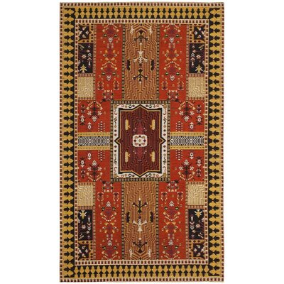 Essie Orange Area Rug Rug Size: Rectangle 67 x 92