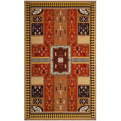 Essie Orange Area Rug Rug Size: 5 x 8