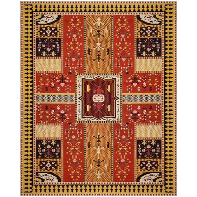 Essie Orange Area Rug Rug Size: Rectangle 8 x 10