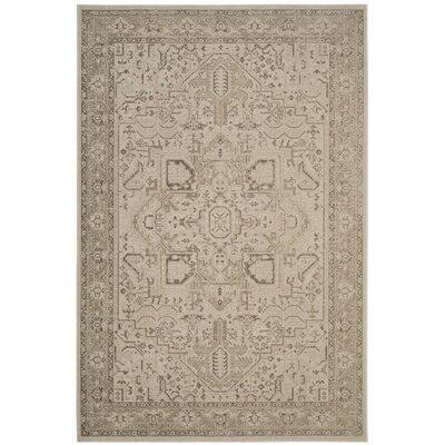 Hampson Beige Indoor Area Rug Rug Size: 51 x 76