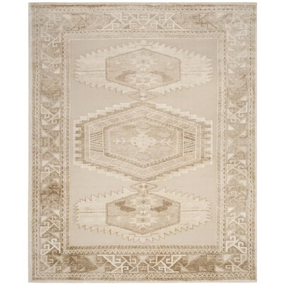 Hanna Hand Knotted Beige Area Rug Rug Size: Rectangle 8 x 10