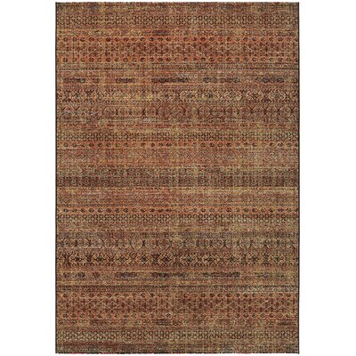 Char Ruby/Ivory Area Rug Rug Size: 92 x 129