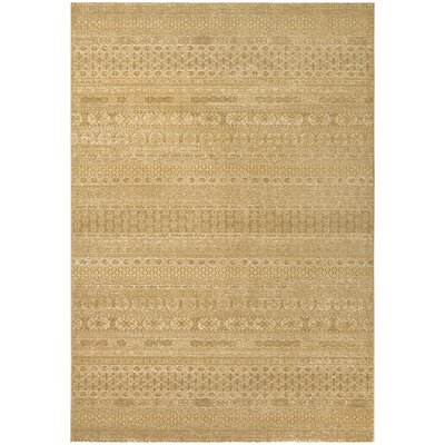 Char Tan/Gold Area Rug Rug Size: 92 x 129