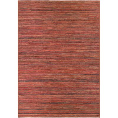 Amasa Crimson Indoor/Outdoor Area Rug Rug Size: 53 x 76