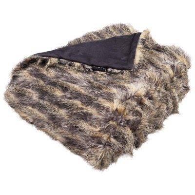 Hansley Pheasant Faux Fur Throw