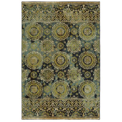 Elenora Sapphire/Aquamarine Area Rug Rug Size: Rectangle 8 x 11
